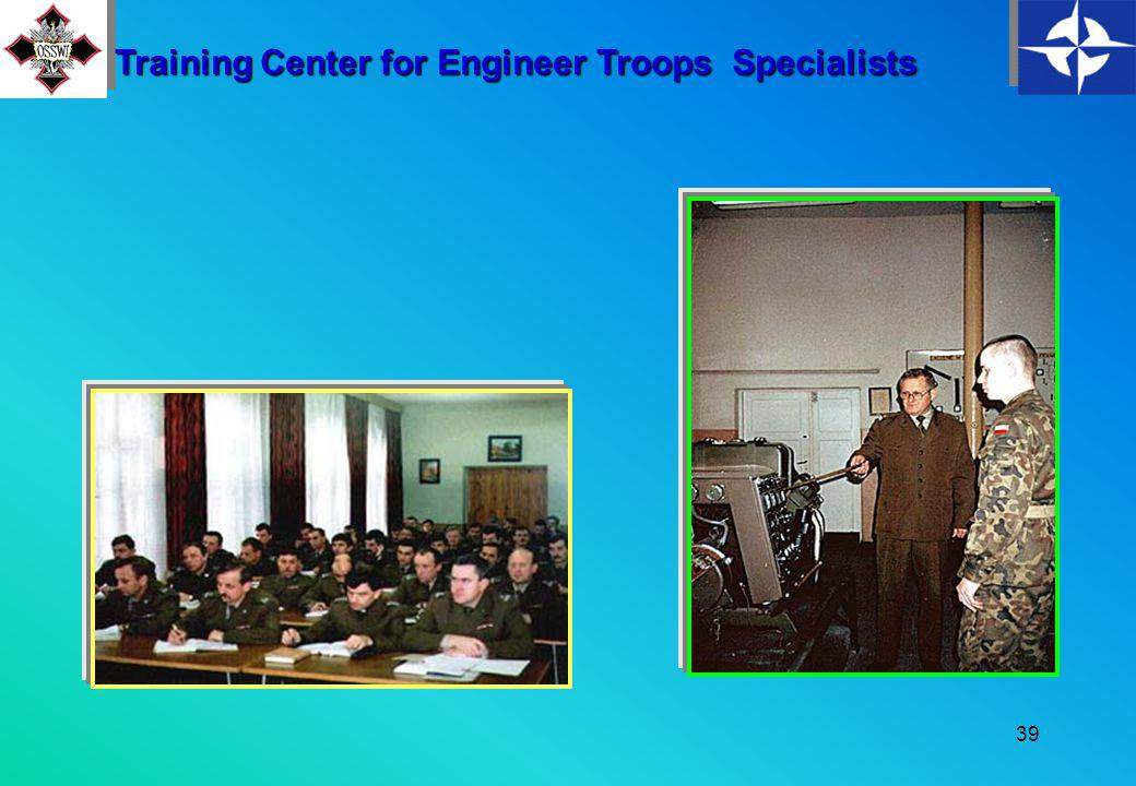 38 A gym and three volleyball courts, a football field, and a tennis court The classrooms includes: 4 methodology classrooms 17 specialized lecture halls A staff training room Training Center for Engineer Troops Specialists