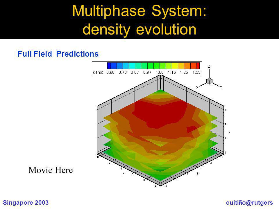 Singapore 2003 cuiti ñ o@rutgers Multiphase System: density evolution Movie Here Full Field Predictions
