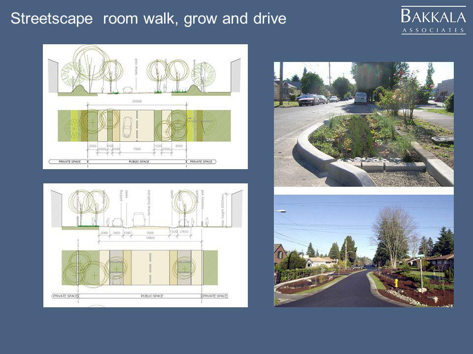 Streetscape room walk, grow and drive