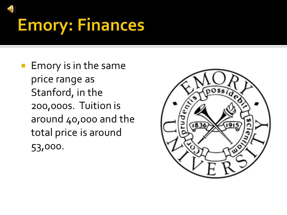 Emory is in the same price range as Stanford, in the 200,000s.