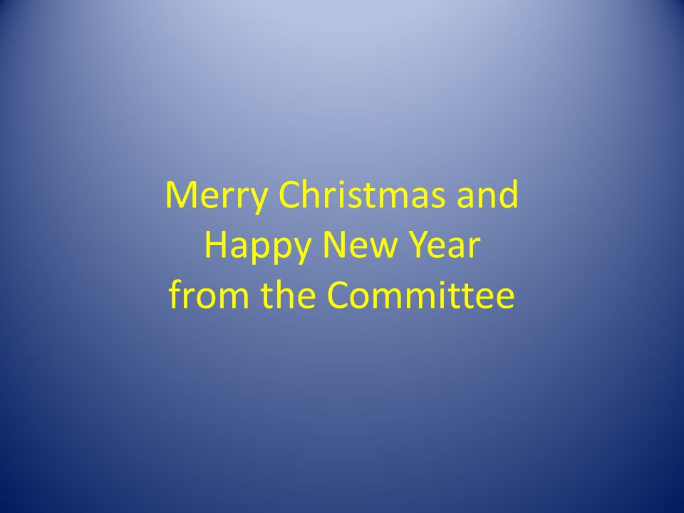 Merry Christmas and Happy New Year from the Committee