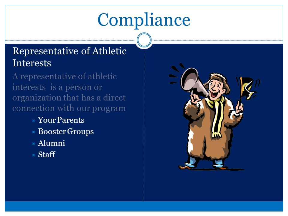 Compliance What happens if we commit violations.