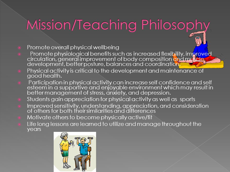 Mission/Teaching Philosophy NYS Standards for Physical Education and NASPE Standards Criteria for Expectations of Students Classroom Rules/Regulations Grading Annual Curriculum PE Programs/Features School/Community Events 4 Internet Resources for parents/students Faculty Profile Contact Information