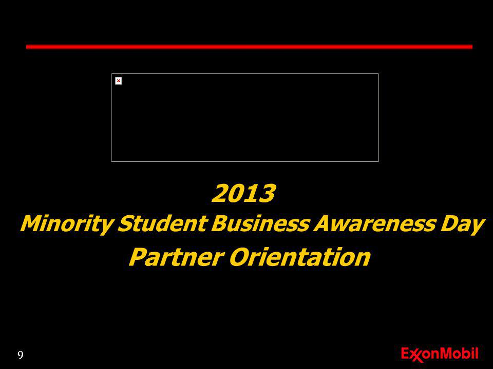 2013 Minority Student Business Awareness Day Partner Orientation 9