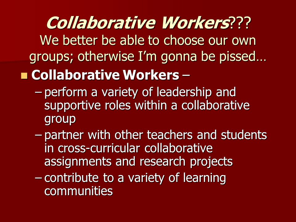 Collaborative Workers .