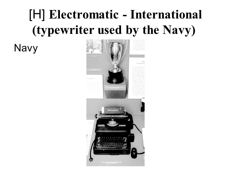 [H] Electromatic - International (typewriter used by the Navy) Navy