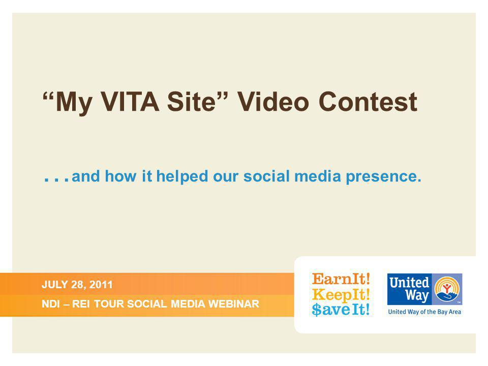 My VITA Site Video Contest … and how it helped our social media presence.