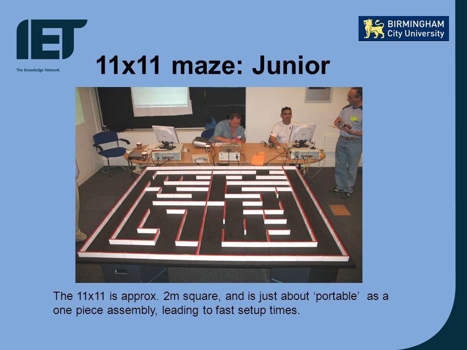 11x11 maze: Junior The 11x11 is approx.