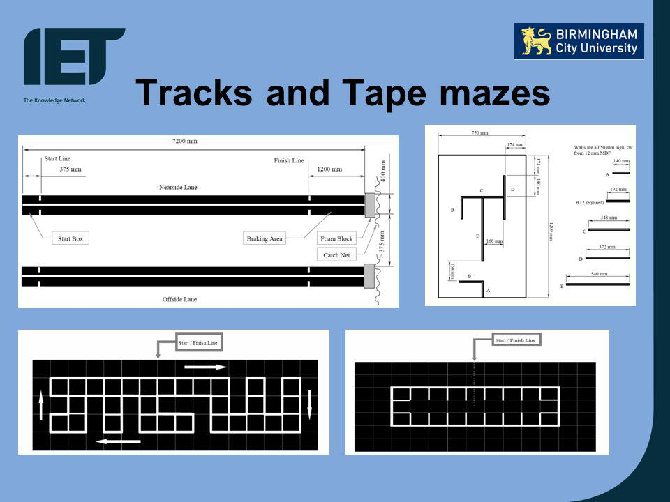 Tracks and Tape mazes