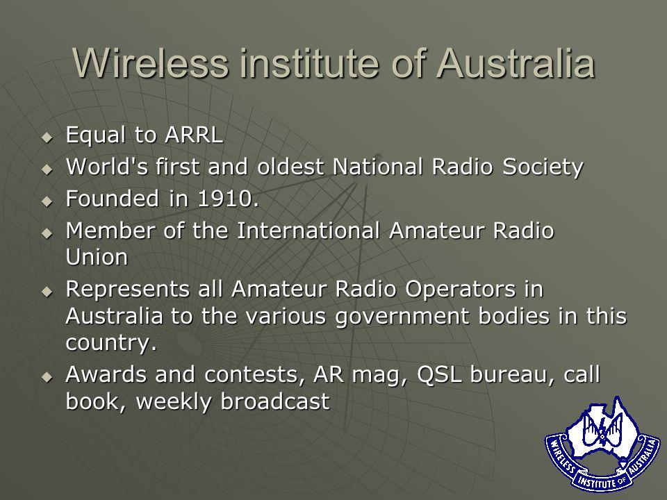 Australian amateur radio. Wireless institute of Australia ...