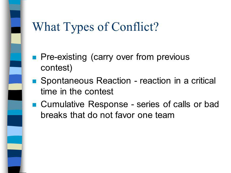 What Types of Conflict.