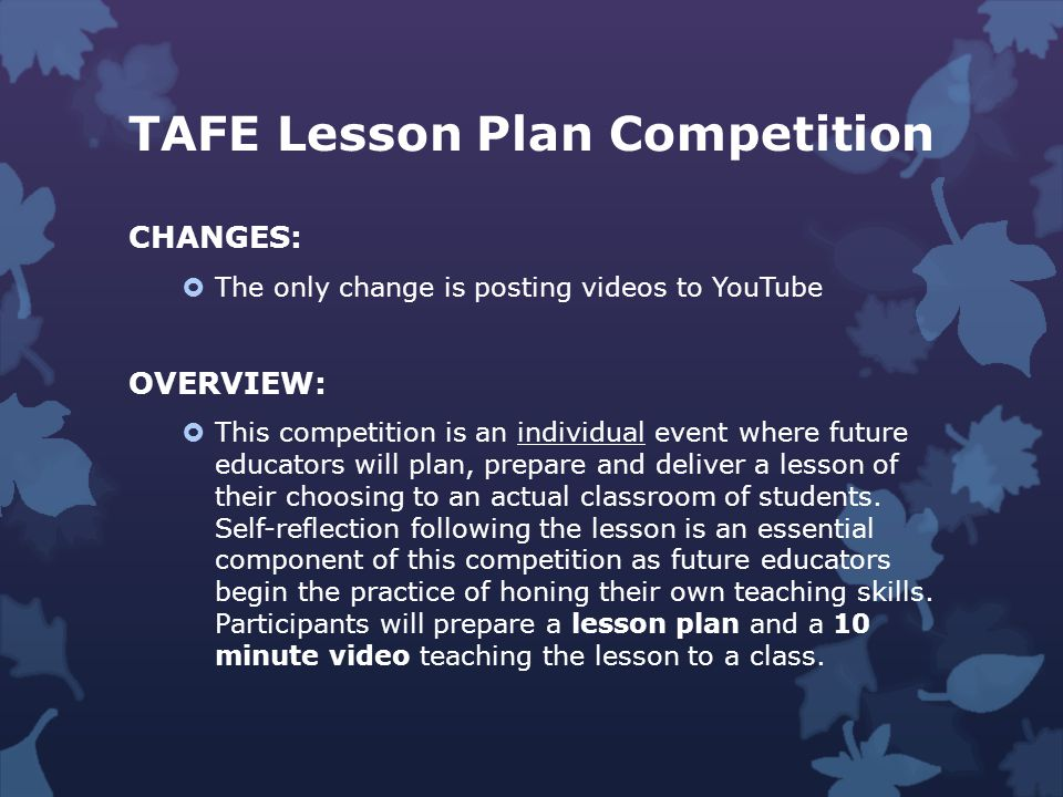Public Service Announcement Competition CHANGES: FEA added it back as a national competition.