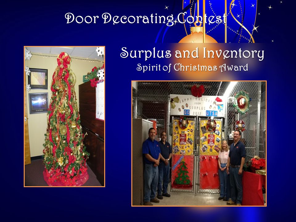 Door Decorating Contest Surplus and Inventory Spirit of Christmas Award