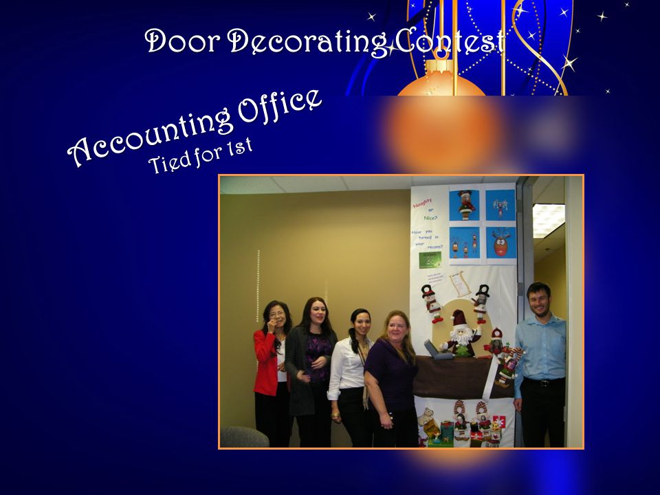 Door Decorating Contest Accounting Office Tied for 1st