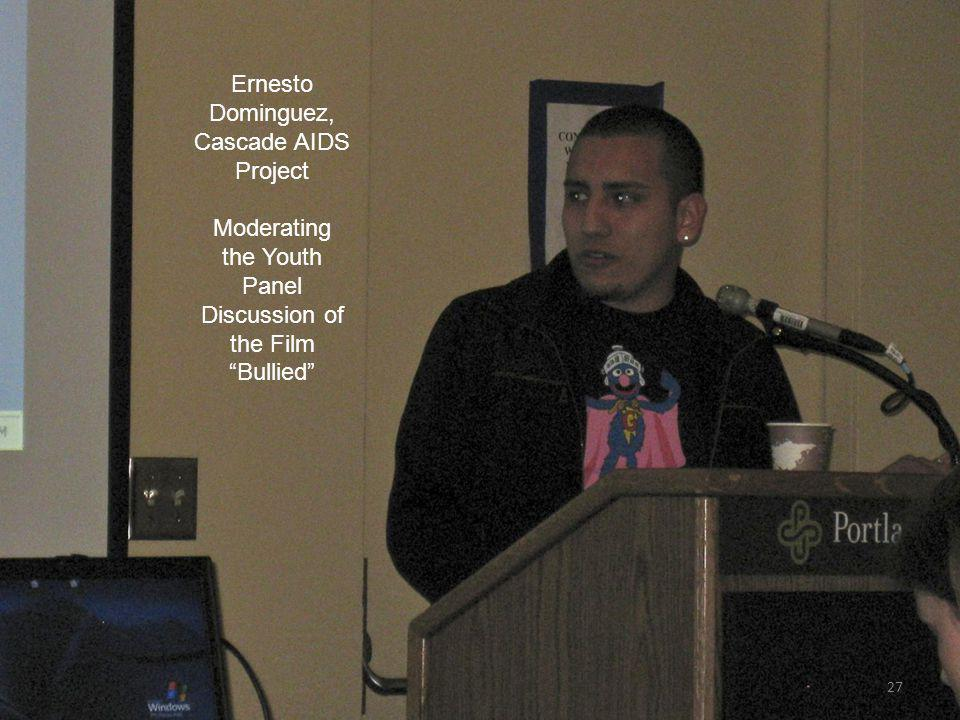 27 Ernesto Dominguez, Cascade AIDS Project Moderating the Youth Panel Discussion of the Film Bullied