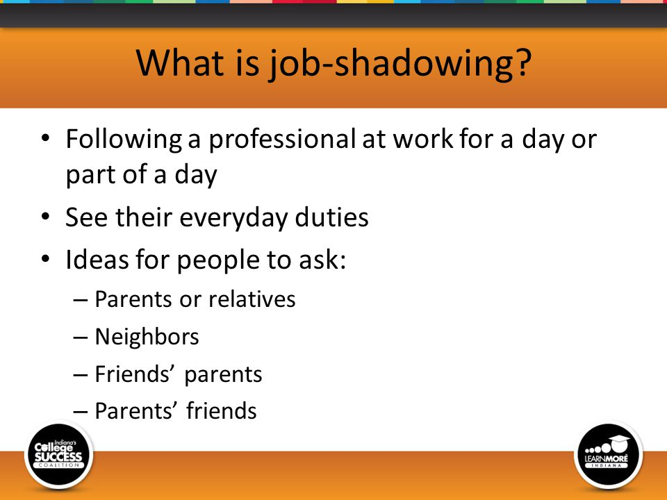 What is job-shadowing.