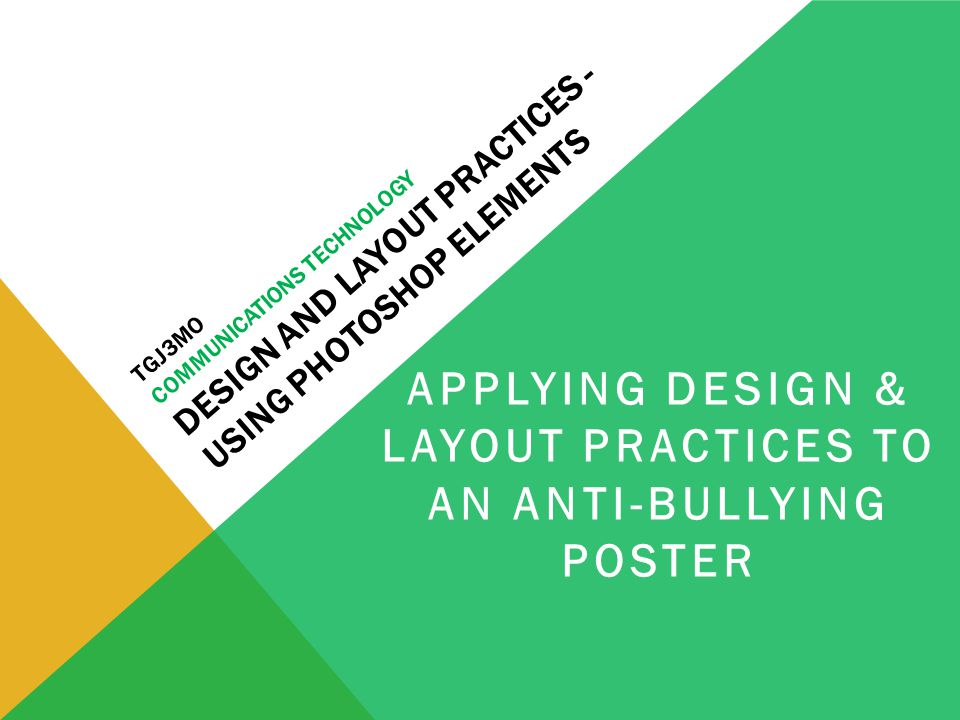 TGJ3MO COMMUNICATIONS TECHNOLOGY DESIGN AND LAYOUT PRACTICES