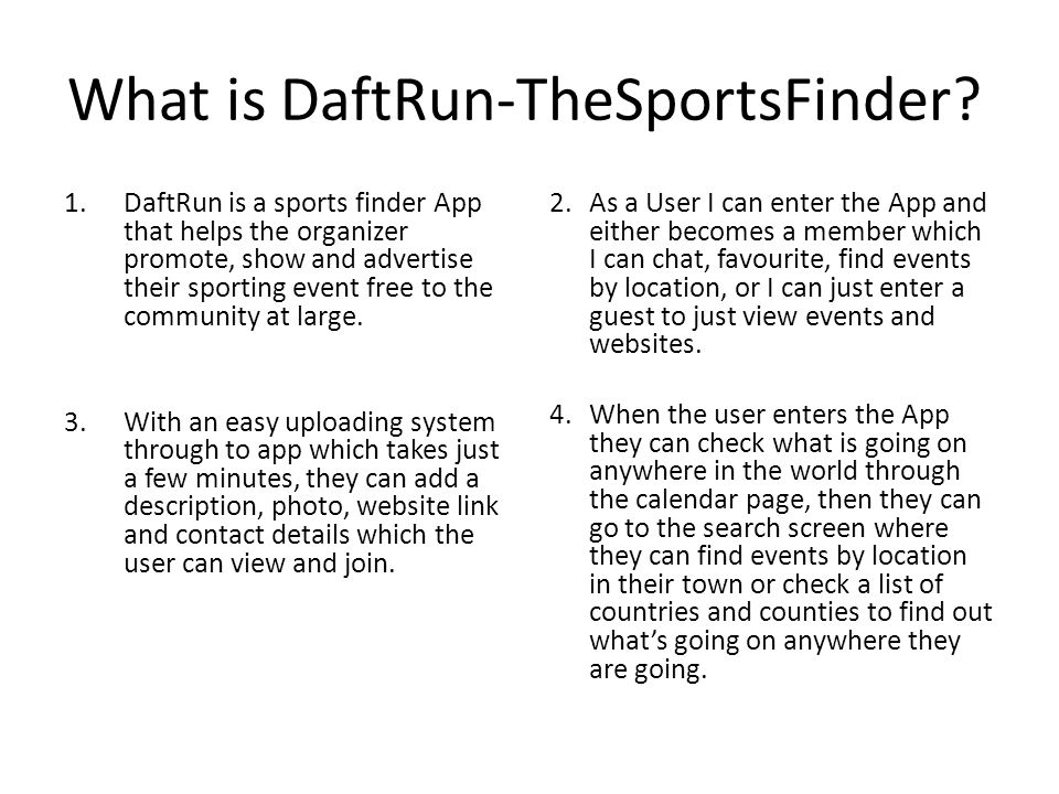 What is DaftRun-TheSportsFinder.