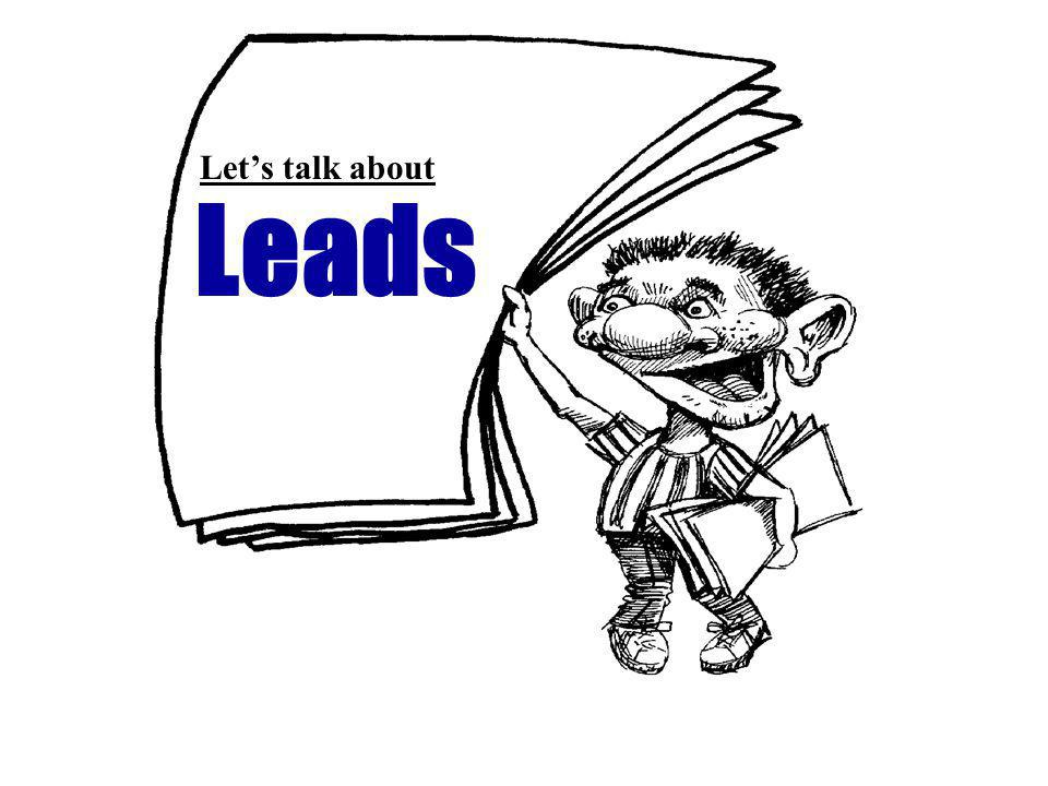 Leads Lets talk about