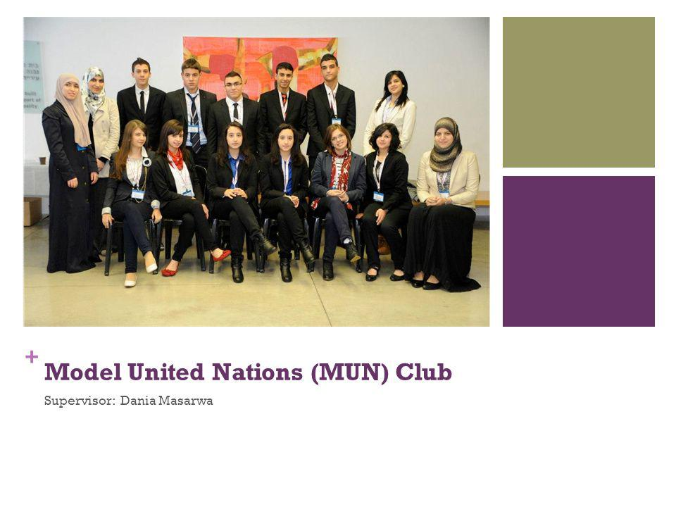 + Model United Nations (MUN) Club Supervisor: Dania Masarwa