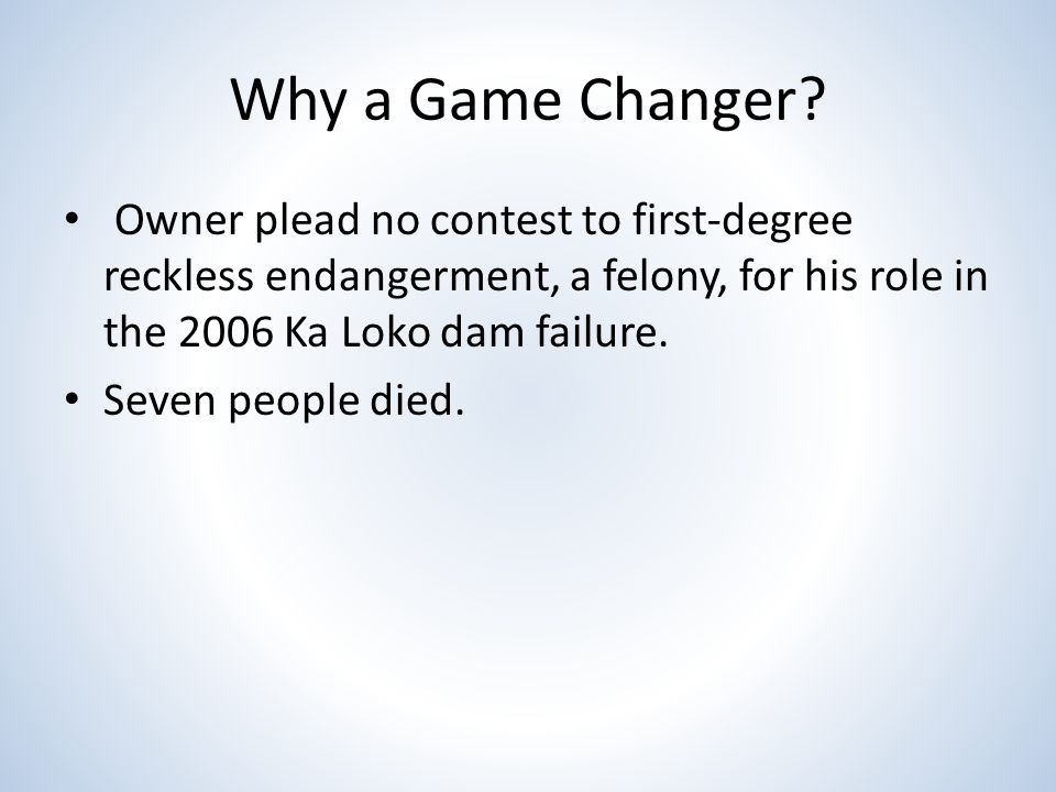 Why a Game Changer.