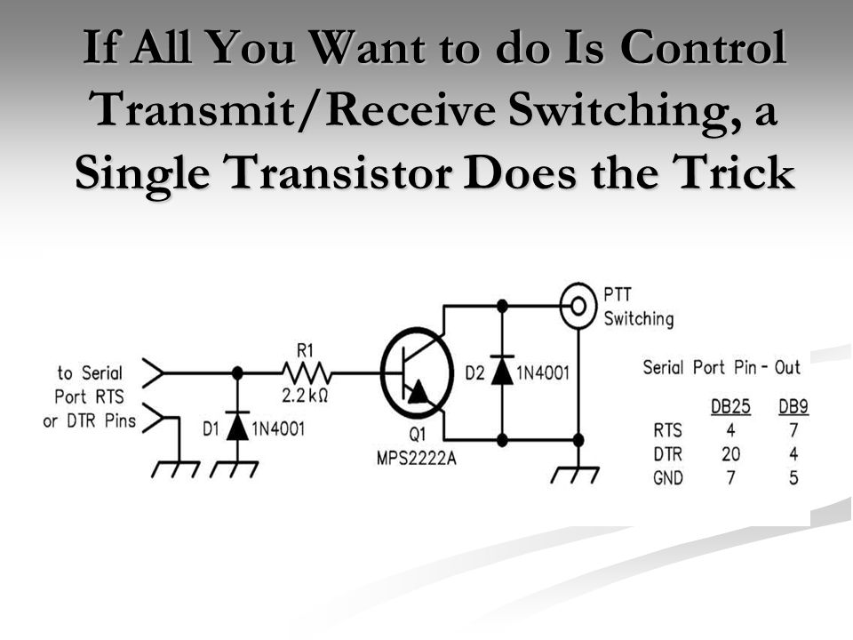 If All You Want to do Is Control Transmit/Receive Switching, a Single Transistor Does the Trick