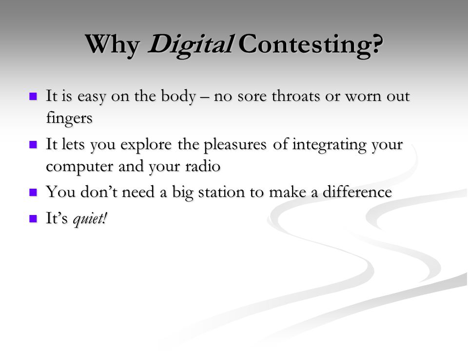 Why Digital Contesting.