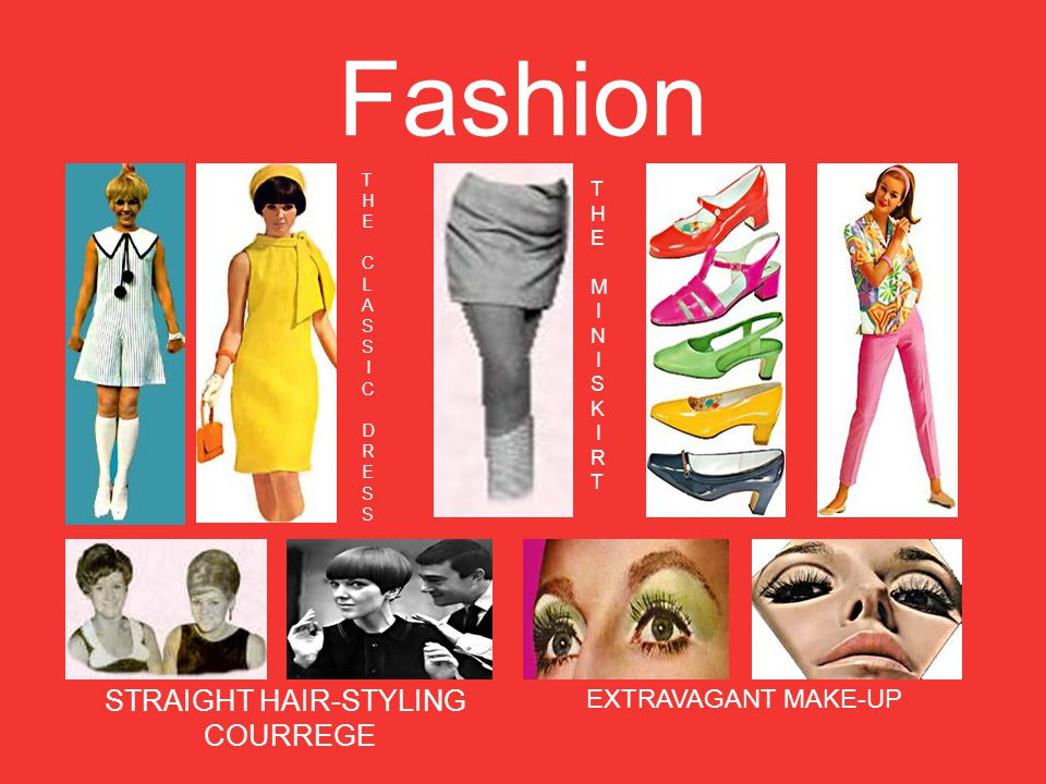 Fashion T H E C L A S I C D R E S T H E M I N I S K I R T STRAIGHT HAIR-STYLING COURREGE EXTRAVAGANT MAKE-UP