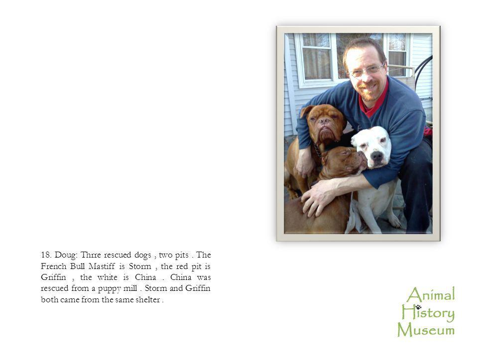 18. Doug: Thrre rescued dogs, two pits.