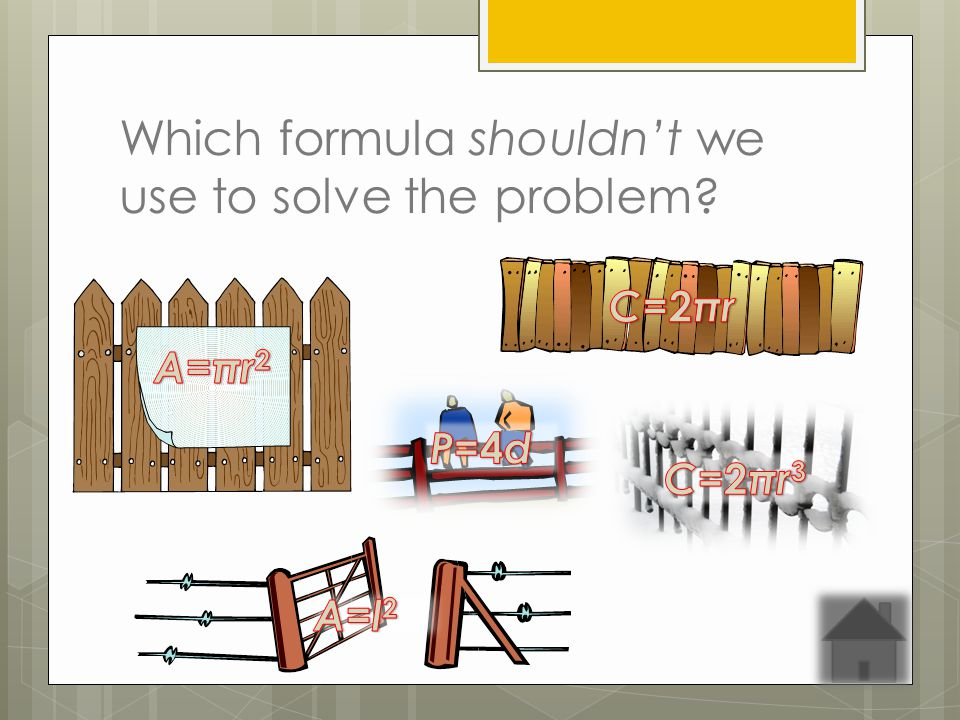Which formula shouldnt we use to solve the problem