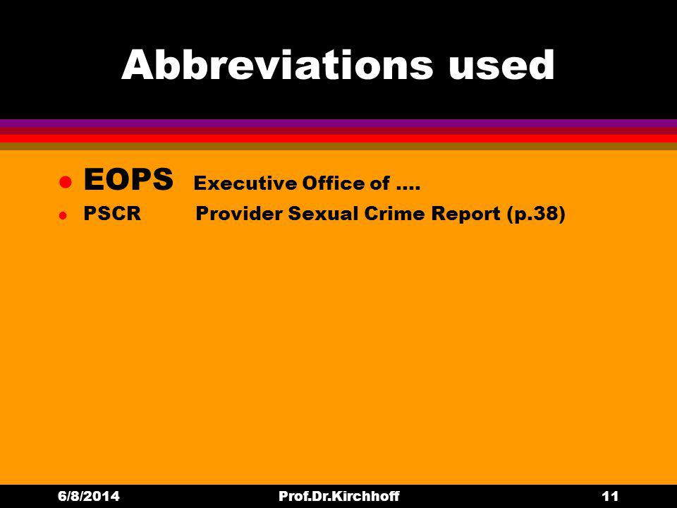 Abbreviations used l EOPS Executive Office of ….