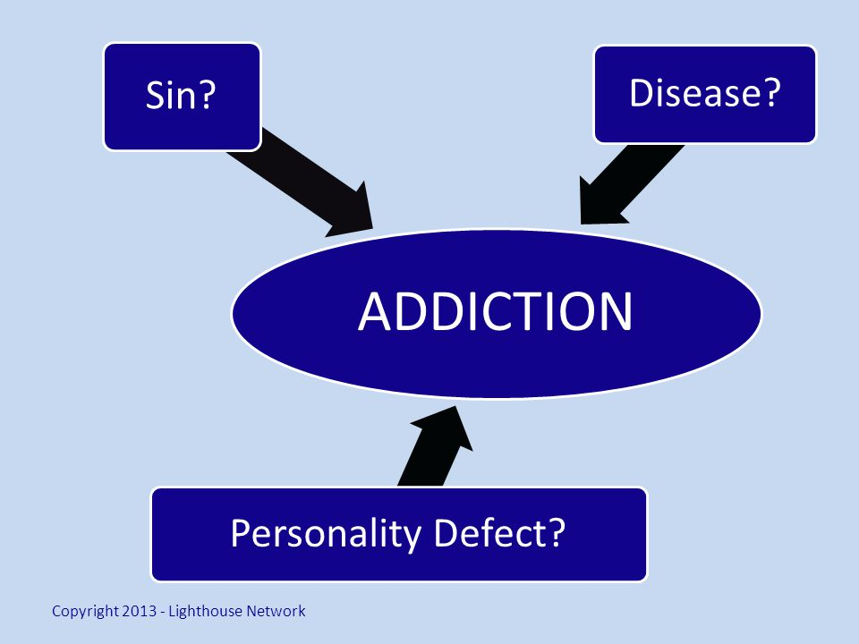 ADDICTION Sin Disease Personality Defect Copyright 2013 - Lighthouse Network