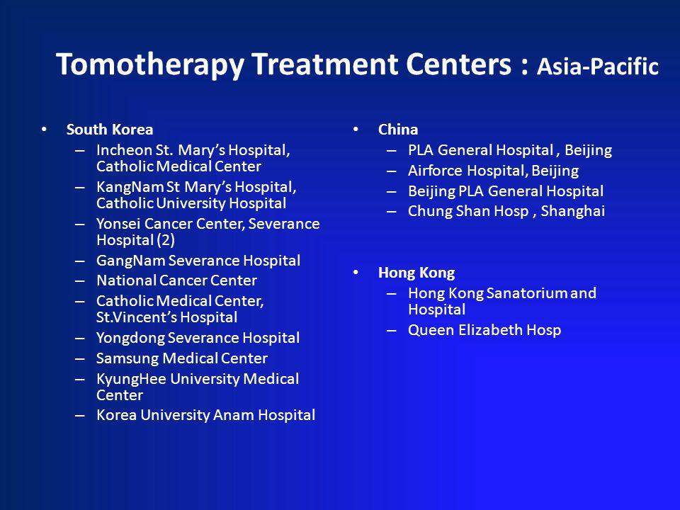 Tomotherapy Treatment Centers : Asia-Pacific South Korea – Incheon St.