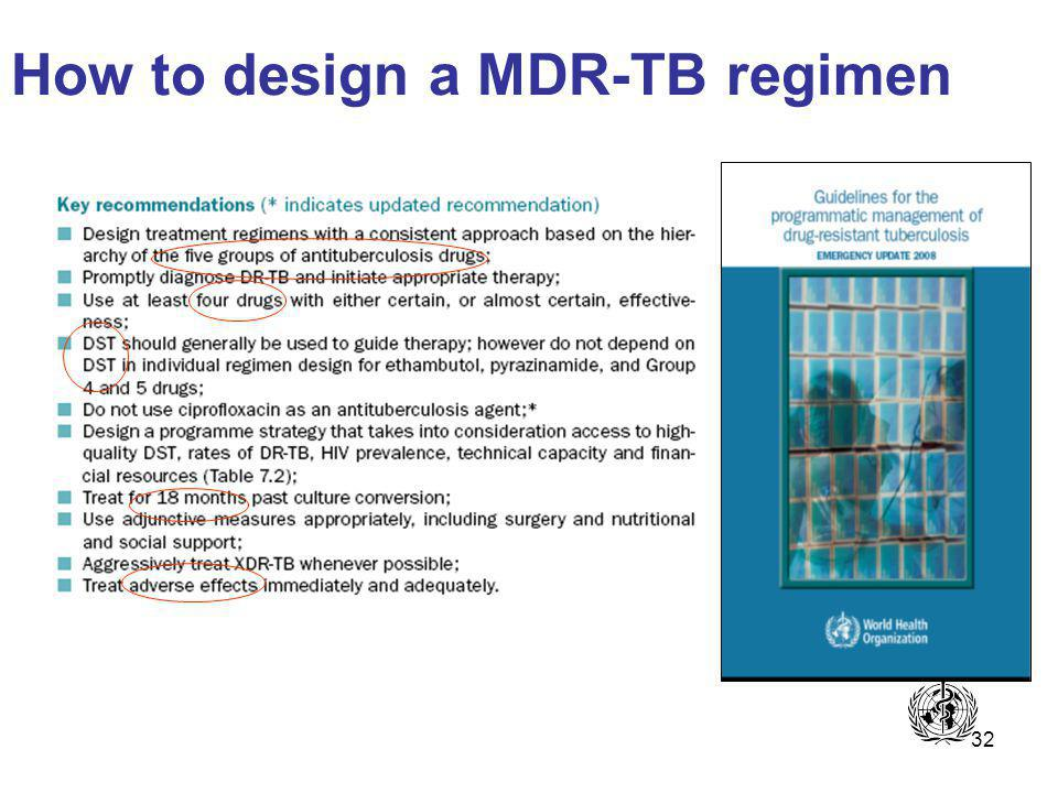 32 How to design a MDR-TB regimen