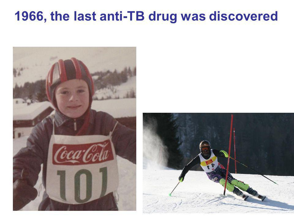 65 1966, the last anti-TB drug was discovered