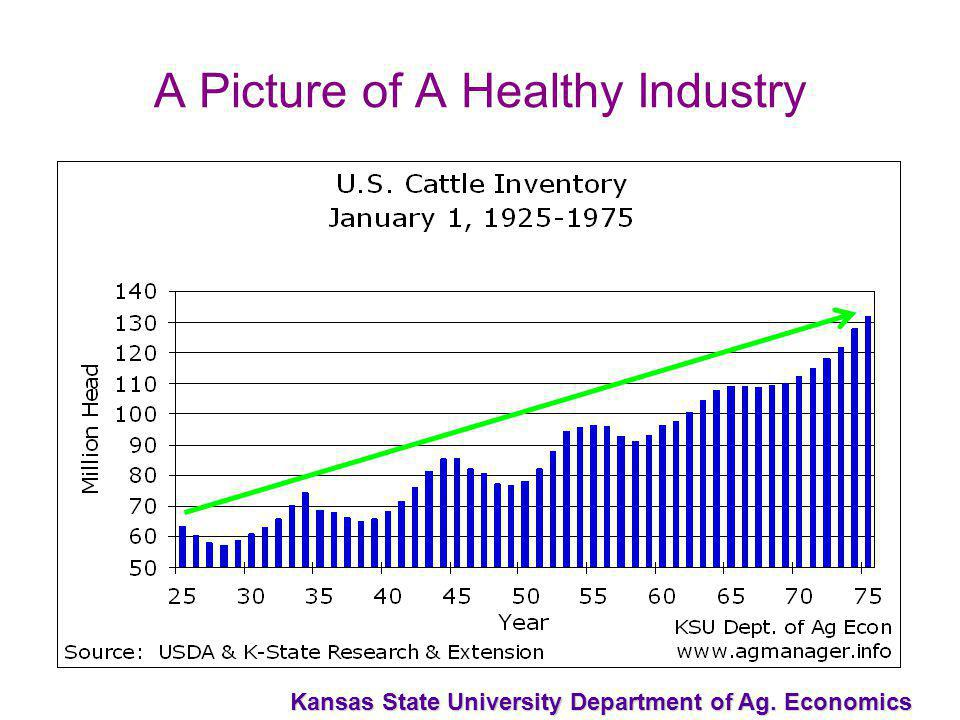 Kansas State University Department of Ag. Economics A Picture of A Healthy Industry