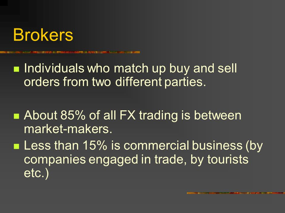 Market-makers Traders in the major money center banks around the world who deal in two-way prices.