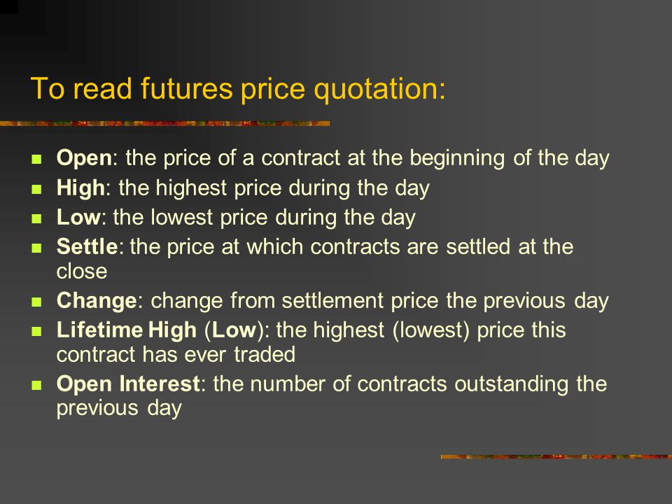 Differences between Forward contracts and Futures contracts The daily cash flows take place on a futures contract.