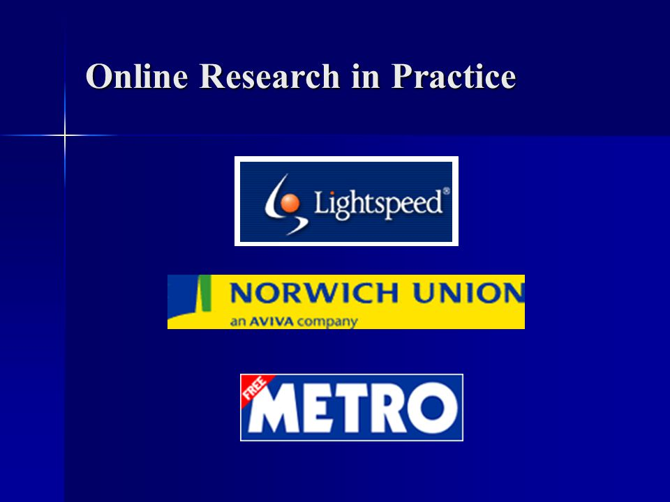 Online Research in Practice