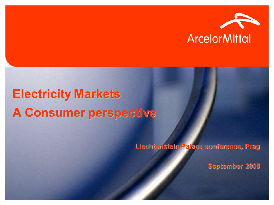 Electricity Markets A Consumer perspective Liechtenstein Palace conference, Prag September 2008