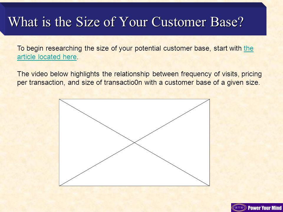 What is the Size of Your Customer Base.