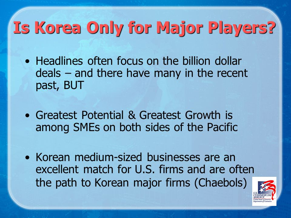 Is Korea Only for Major Players.
