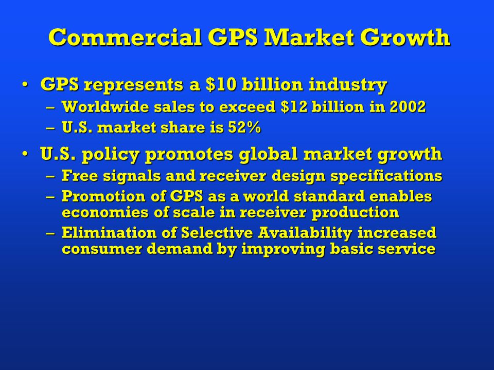 Commercial GPS Market Growth