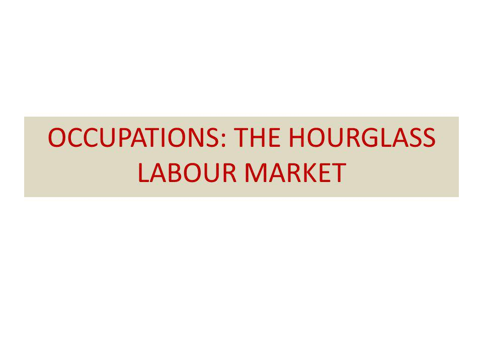OCCUPATIONS: THE HOURGLASS LABOUR MARKET