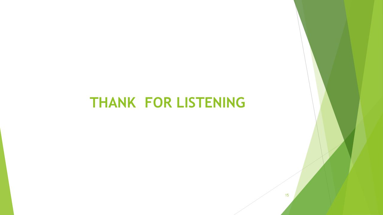 THANK FOR LISTENING 15