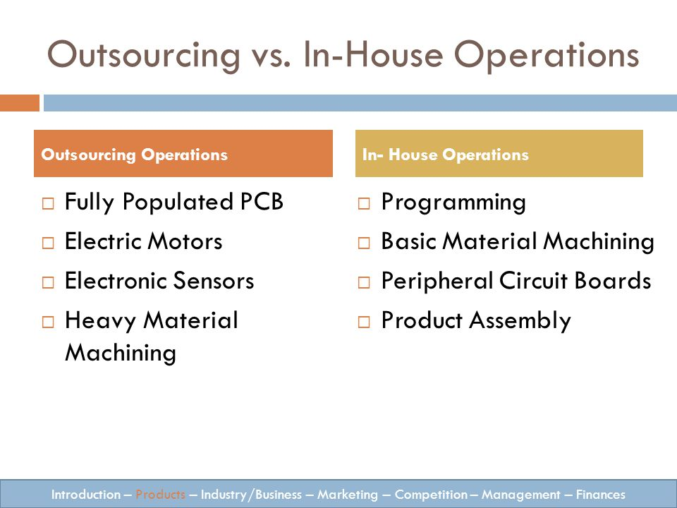 Outsourcing vs.
