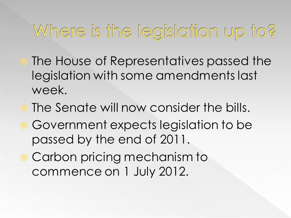The House of Representatives passed the legislation with some amendments last week.
