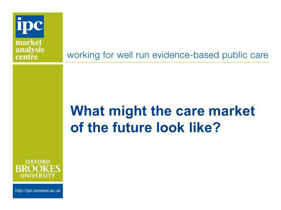 What might the care market of the future look like