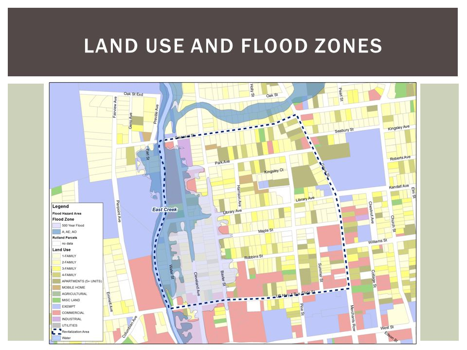 LAND USE AND FLOOD ZONES