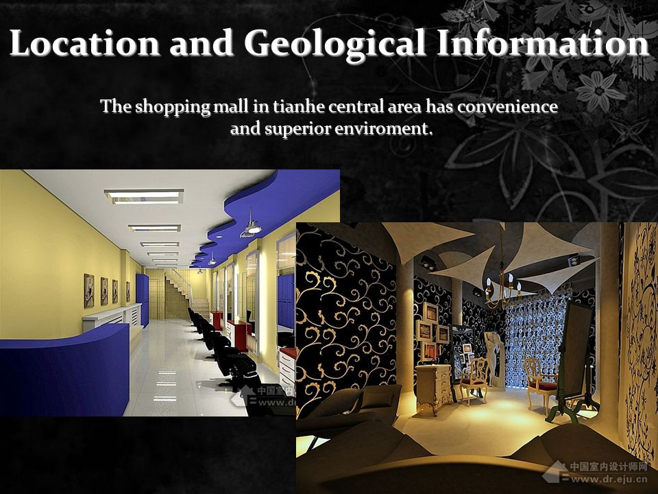 Location and Geological Information The shopping mall in tianhe central area has convenience and superior enviroment.